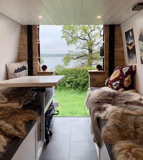 van build sitting area