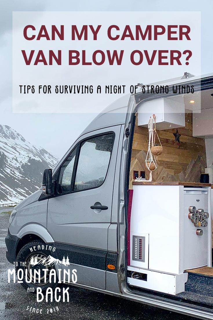 camper vans in windy weather