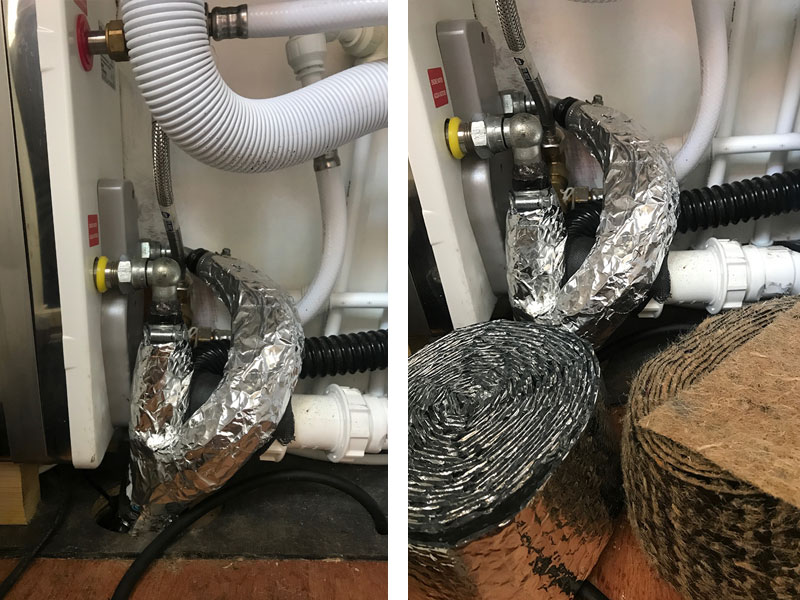 hot water pipe insulation
