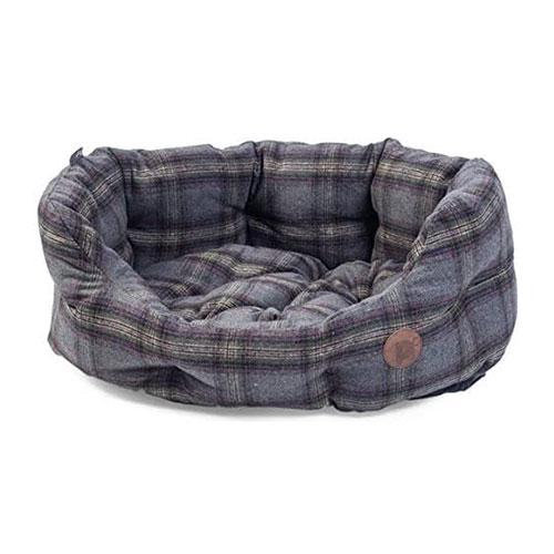 Petface-Grey-Tweed-Dog-Bed