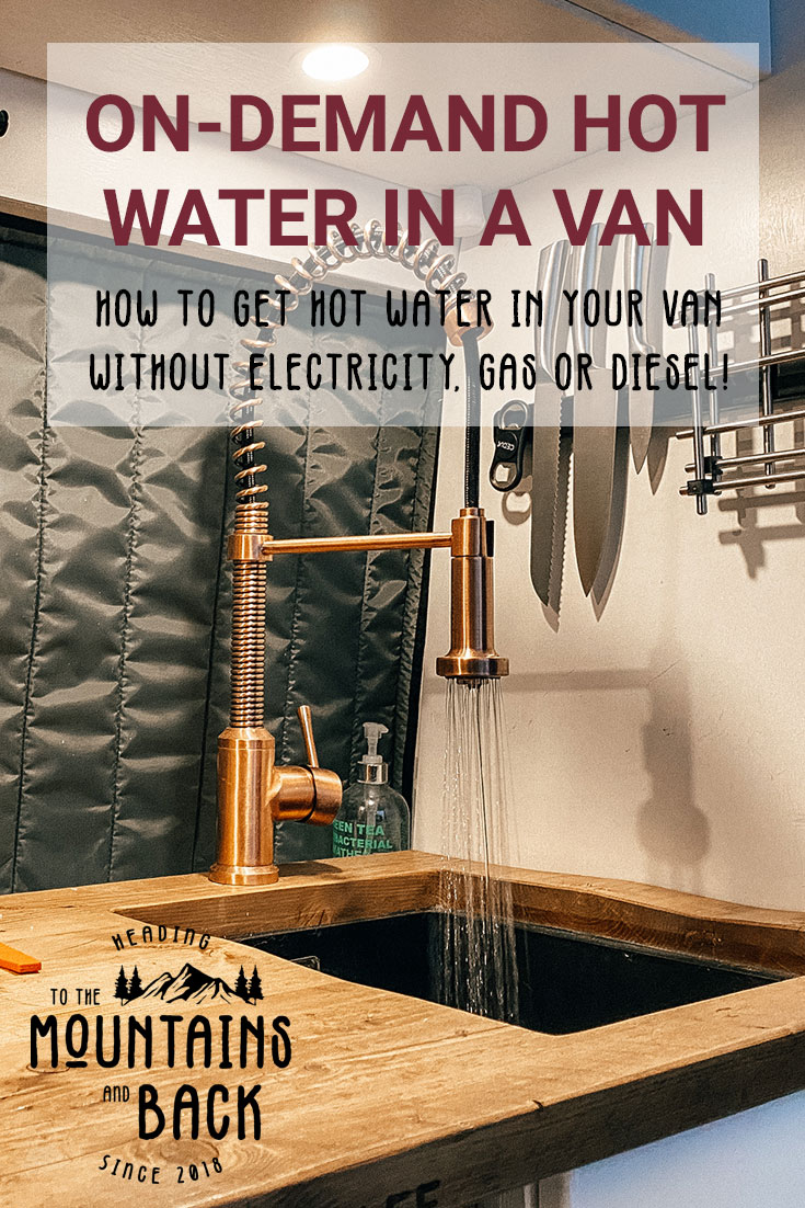 pin hot water in a van