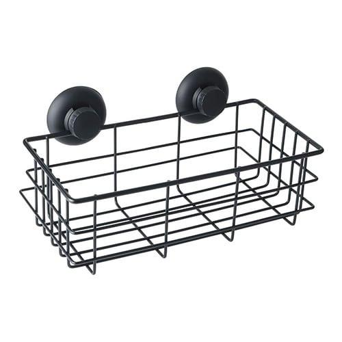 black shower basket