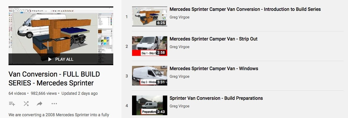 Van Build Ideas You Tube
