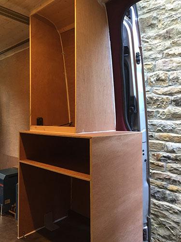 Camper Van Build: Wardrobe and Piglet's Bed Shell