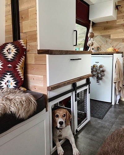 Camper Van Build: Van Dog Bed