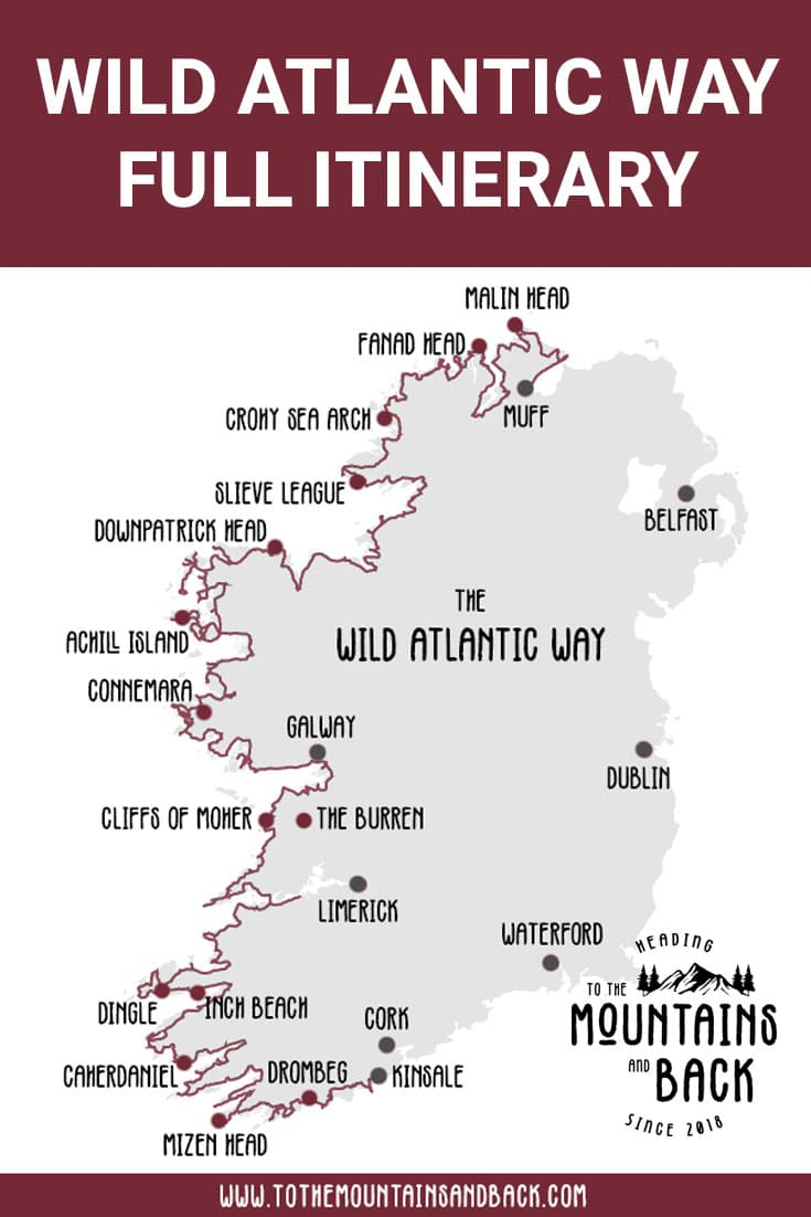 Pin Wild Atlantic Way Itinerary