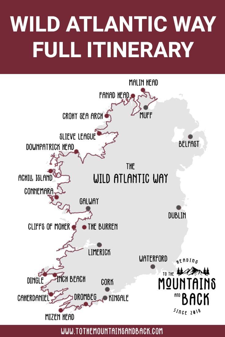 Pin Wild Atlantic Way Itinerary