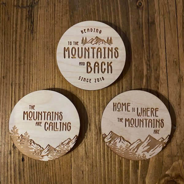 Wooden Mountain Sticker Bundle