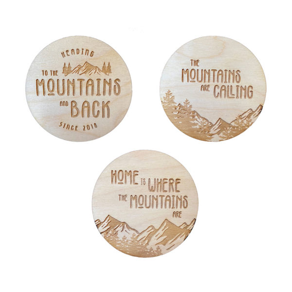 Mountain Wooden Magnet Bundle