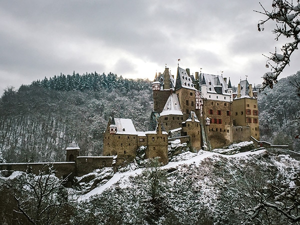 Wild Camping in Germany: Burg Eltz Castle