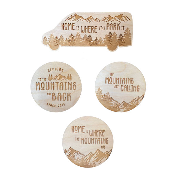 Van Life Mountain Magnet Bundle
