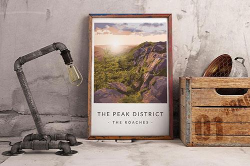 Art print of the Peak District