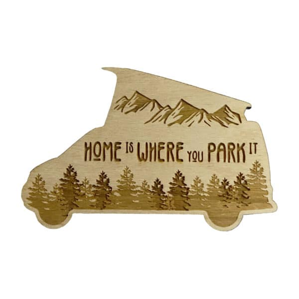 Home is Where You Park It Pop Top Camper Sticker