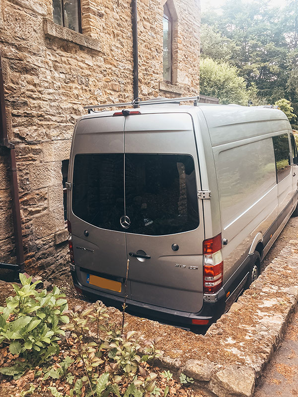 WBack of our van showing our newly installed windows