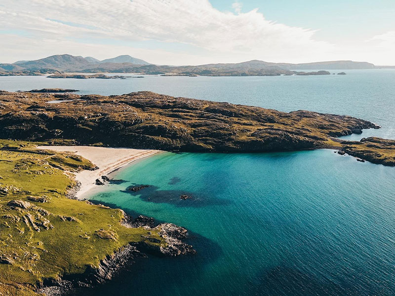 Looking down over Bosta Beach on the Isle of Lewis